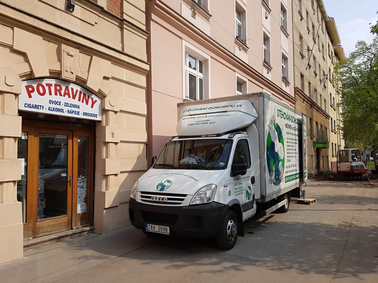 Bezpečné stěhování firmy v centru Prahy