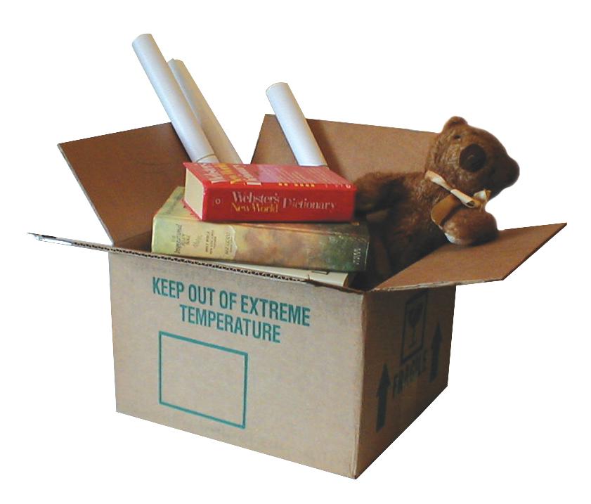 Stěhování bytu - krabice na stěhování